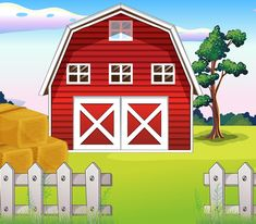 View album on Yandex. Farm Cartoon, Art For Kids, Crafts For Kids, Art Shed, Farm Crafts, Theme Background, Free To Use Images, Farm Birthday, Trunk Or Treat