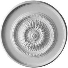 """Floral 41.13""""H x 41.13""""W x 2.5""""D Ceiling Medallion"""