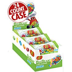 Jelly Belly Sours BigBean Dispensers. Dispenses sour jelly beans one at a time. Convenient size and easily portable! Sour