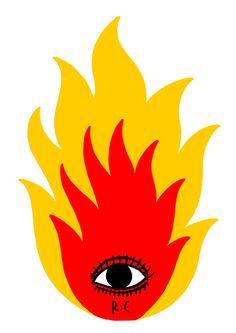 Ricardo Cavolo, 'The Fire'. Graphic Design Illustration, Illustration Art, Desenho Harry Styles, Arte Latina, Fire Drawing, Trippy Painting, Fire Art, Hippie Art, Art Inspo