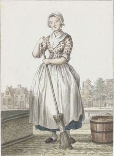 Colored engraving by Paulus Constantijn la Fargue Rijsmuseum, The Netherlands 18th Century Dress, 18th Century Costume, 18th Century Clothing, 18th Century Fashion, Historical Women, Historical Clothing, Oldenburg, Historical Costume, Canvas Art