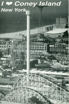 Coney Island, the boardwalk, Nathan's, skeeball, pistachio soft serve custard & best of all, the Cyclone!  I still love the sound of the rickety wooden rollercoaster creeping up the hill as it prepares to DROP!