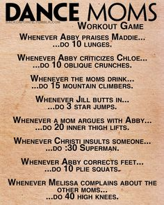 Dance Moms Workout Game