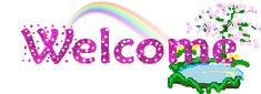Animated Glitter Graphics welcome Welcome Gif, Glitter Graphics, Best Memories, How To Introduce Yourself, Cute Cats, Girly, Rainbow, Animation, Signs