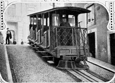 'Ascensor da Bica' funicular car at the top stop (in in Lisbon, Portugal Lisbon Apartment, Lisbon Hotel, Beyond Beauty, Charming House, Cool Apartments, Hotels Near, Street Photography, Film Photography, Portuguese