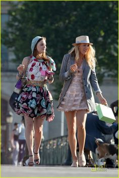 serena and blair gossip girl | ... ChocoBrilhante: Looks Blair & Serena in Paris (Gossip girl 4 season
