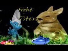 Frohe Ostern im grünen GrasOstereier,Ostern, Schlümpfe, Zoobe, Anim...