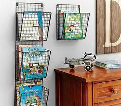 Wire Magazine Rack | Pottery Barn Kids. 3 pocket on sale $80.