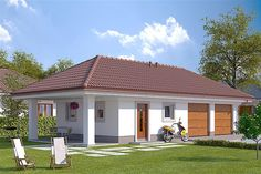 Projekt G2-4.12a House Layout Plans, Small House Plans, House Layouts, Bungalow House Plans, Bungalow House Design, House Balcony Design, Country Modern Home, Facade House, Home Design Plans