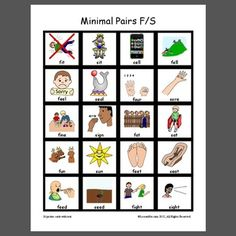 Minimal Pairs F/S - Pinned by @PediaStaff – Please Visit  ht.ly/63sNt for all our pediatric therapy pins