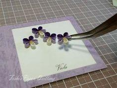 ビオラのメッセージカード の画像|Toshi's Paper Quilling ♪