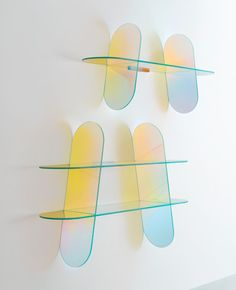 Patricia Urquiola coats transparent furniture for Glas Italia with an iridescent sheen.