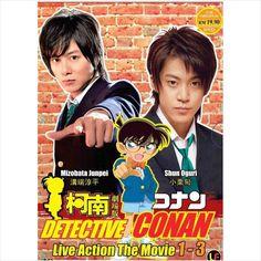 DVD DETECTIVE CONAN Live Action Movie 1-3 Mizobata Junpei Shun Oguri Case Closed