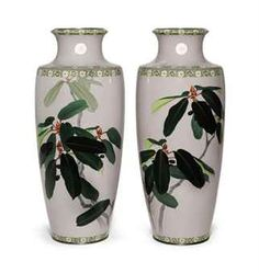 A PAIR OF CLOISONNÉ ENAMEL PRESENTATION VASES  MEIJI-TAISHO PERIOD (EARLY 20TH CENTURY), INLAID WIRE MARK OF ANDO WORKSHOPhttp://www.christies.com/