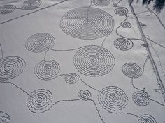Perfect spirals in fresh snow.