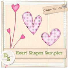 Delicious Scraps: New Hearts Custom Shapes and Free Sampler*