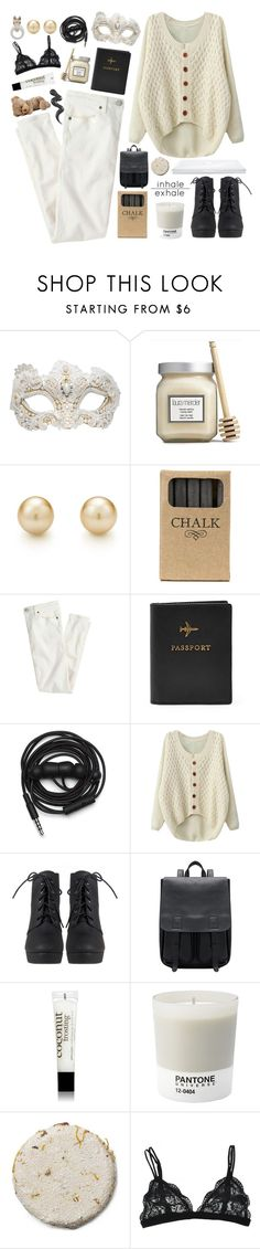"""▷I'm afraid that I, well I may have faked it◁"" by december-berry ❤ liked on Polyvore featuring Swarovski, Laura Mercier, Tiffany & Co., Jayson Home, J.Crew, Urbanears, philosophy, Pantone, Nach and Sweater"