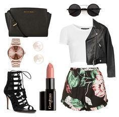 """night out"" by morenasexy ❤ liked on Polyvore featuring Topshop, Acne Studios, Michael Kors, Chicnova Fashion, Gorgeous Cosmetics and Nixon"