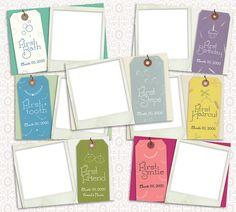 24 Baby Milestone Cards  4 x 6 Photoshop Templates by SilverLiningPrinting