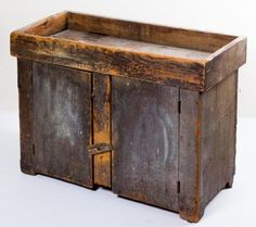 19th c. DRY SINK IN GRAY PAINT