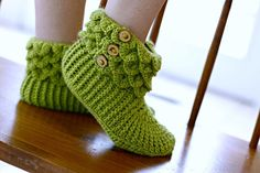 (4) Name: 'Crocheting : Crocodile Stitch Boots (Adult)