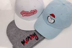 How cute are these custom holiday hats?