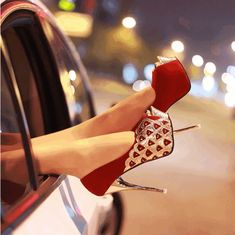 #Heels 2013 New Arrival Red Platform Peep Toe shoes $29.99(FreeShipping)   More:@Shoes pie  <3 <3 <3