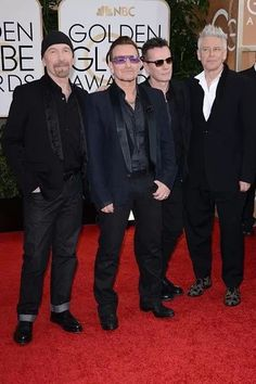 U2 at Golden Globes 2014 #redcarpet