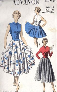1950s Skirt and Blouse