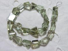 Natural Green Amethyst Faceted 9-12 MM | Amethyst Tumbled | Green Amethyst Nuggets | Green Amethyst | 10 Inch Strand | Gemstone Supplier