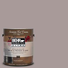 BEHR Premium Plus Ultra 1-gal. #UL250-8 Smoked Mauve Interior Flat Enamel Paint