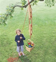 Main image for Pulley Set with Wooden Reels and Nylon Ropes