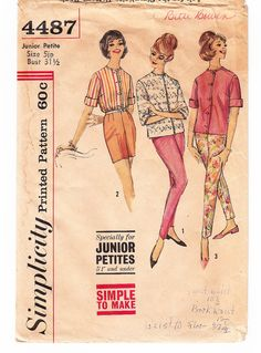 Vintage 1961 Simplicity 4487 Sewing Pattern by SewUniqueClassique, $8.00