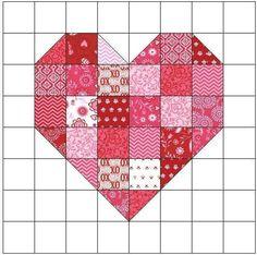 Scrappy Heart Quilt Block Pattern | Craftsy