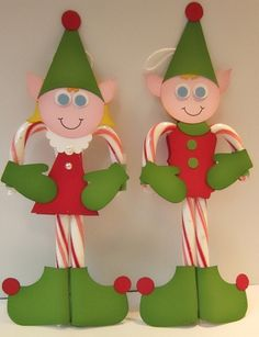 Candy Cane Elves (photo inspiration only)