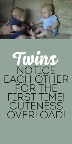 Twins Notice Each Other For The FIRST Time... Cuteness Overload! <3