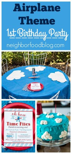 Sharing Ideas For Food Decorations And Invitations An Airplane Themed Birthday Party
