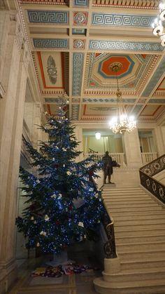 Christmas Tree at Parliament Buildings 2016, Belfast, Northern Ireland.