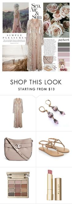 """""""All Patched Up: Patchwork"""" by dezaval ❤ liked on Polyvore featuring Cotton Candy, Etro, Tory Burch, Accessorize, Stila and L'Oréal Paris"""