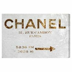 Couture Road Sign Canvas Print, Oliver Gal