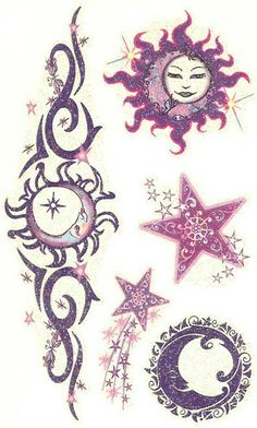 3D Shinning Stars Tattoo