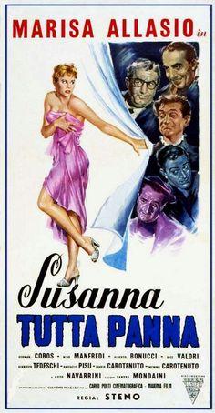 "Steno (Stefano Vanzina)'s comedy ""Susanna tutta panna"" (English title: ""Susanna whipped cream""; 1957), starring Marisa Allasio."