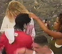 """MICHAEL JACKSON ♥ ◆ ◇ ◆ Michael gets his hair and makeup attended to on set of """"They Don't Care About Us"""" (Rio Street Version) MJ still shows his fans love and flashes the """"peace"""" sign."""