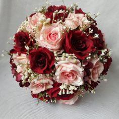 Burgundy And Blush Wedding, Dusty Rose Wedding, Rose Wedding Bouquet, Floral Wedding, Chinese Wedding Decor, Bridal Brooch Bouquet, Prom Flowers, Flower Arrangements, Marie