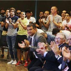 Neymar & Barcelona's squad in Xavi's farewell event  yesterday ♥♥