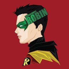 Damian Wayne robin Art inspired by @bosslogic #popheadshots #damianwayne…