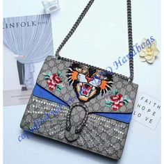 ef1983d6a24 Gucci Dionysus Embroidered Angry Cat Appliques Large Shoulder Bag
