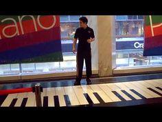 Phantom of the Opera, Bach Duo on a floor keyboard -- AMAZING!! - YouTube