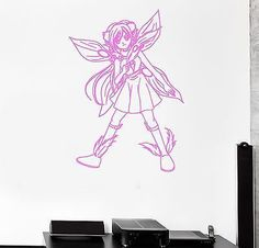 Wall Sticker Fairy Anime Manga Cartoon Kids Room Art Mural Vinyl Decal (ig2009)