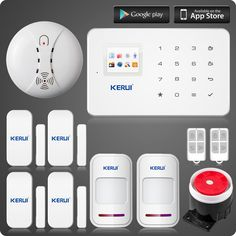 Cheap Buy Quality video directly from China system hangs Suppliers: KERUI wireless zones app control GSM alarm system with touch screen TFT color display home alarm system PIR Motion Senson Home Security Alarm, Safety And Security, Security Camera, House Security, Wireless Video Camera, Alarm Systems For Home, Security Equipment, Wireless Home Security Systems, App Control